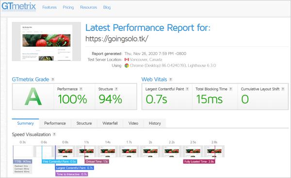 Speed Optimizition Score