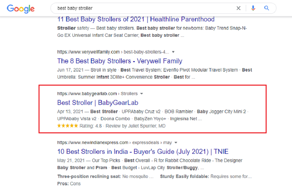 How to show the rating of any article of your site in Google search?
